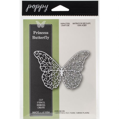 Princess Butterfly Memory Box Poppystamps Die (1136)
